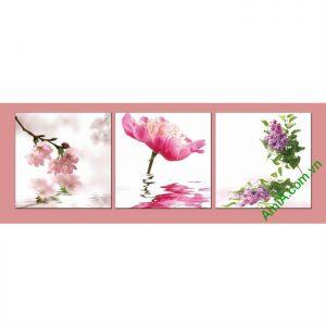 Tranh trang trí chủ đề hoa lá khổ nhỏ Amia 484-00