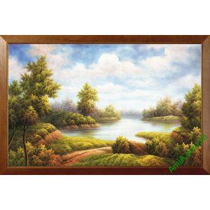 Tranh trang trí in giả sơn dầu phong cảnh thiên nhiên Amia 508-00