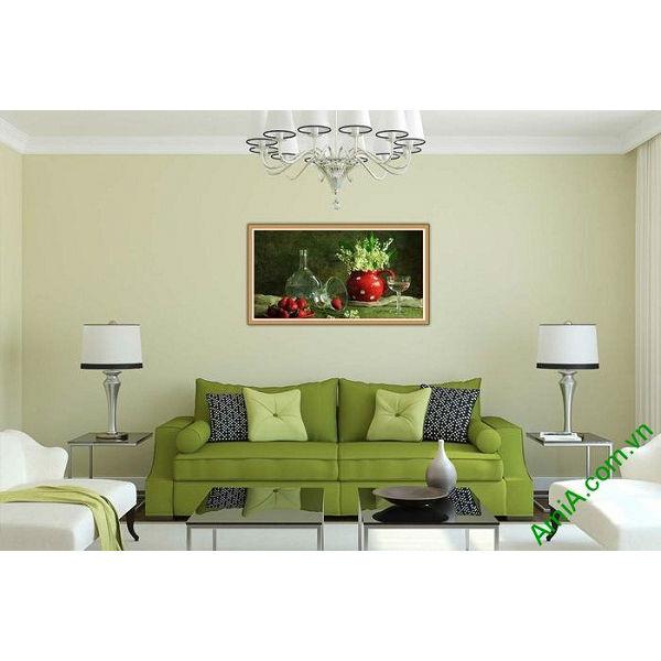 Tranh trang trí hiện đại bàn ăn nghệ thuật Amia 579-00