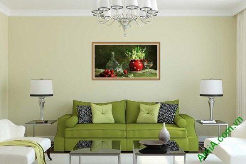 Tranh trang trí hiện đại bàn ăn nghệ thuật Amia 579-01