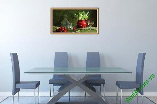 Tranh trang trí hiện đại bàn ăn nghệ thuật Amia 579-02