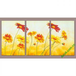 Tranh trang trí hoa dã quỳ đậm chất nghệ thuật Amia 543-00