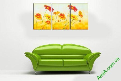 Tranh trang trí hoa dã quỳ đậm chất nghệ thuật Amia 543-01