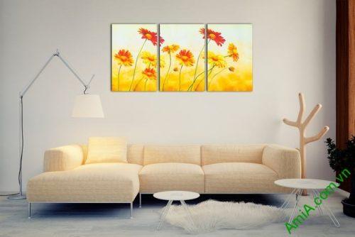 Tranh trang trí hoa dã quỳ đậm chất nghệ thuật Amia 543-02