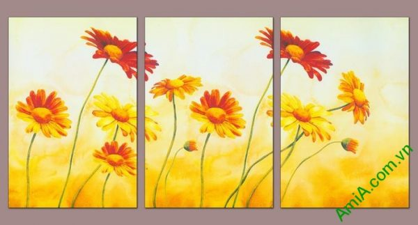Tranh trang trí hoa dã quỳ đậm chất nghệ thuật Amia 543