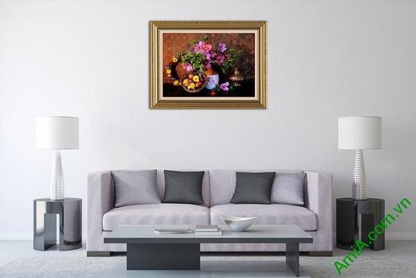 Tranh trang trí hoa lá mang phong cách retro cá tính Amia 566-01
