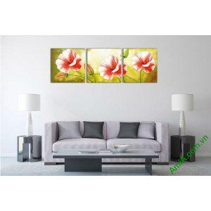 Tranh trang trí hoa poppy nghệ thuật hiện đại Amia 538-00