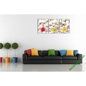 Tranh trang trí hoa Sứ cho phòng khách, spa Amia 511-00