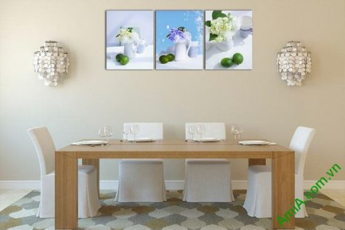 Tranh trang trí nghệ thuật bày trí bộ 3 tấm Amia 510-00