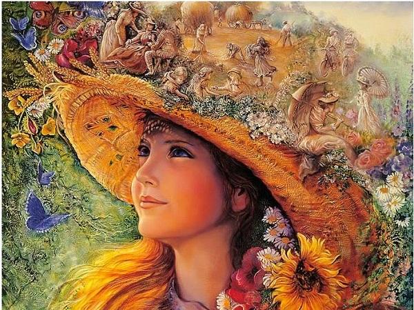 Tranh trang trí nghệ thuật fantasy hình cô gái Amia 574-03