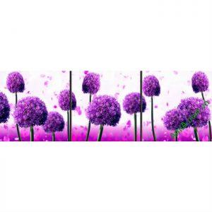 Tranh trang trí nghệ thuật hoa bồ công anh tím Amia 487-00