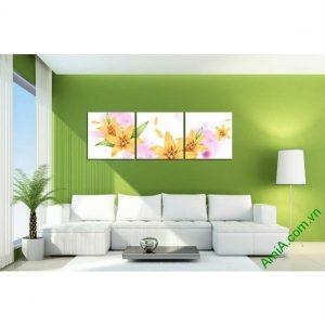 Tranh trang trí nghệ thuật hoa ly cách điệu Amia 477-00