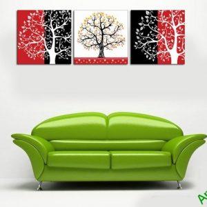 Tranh trang trí nghệ thuật phòng khách cây đời Amia 506-01