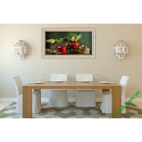 Tranh trang trí nghệ thuật sắp xếp bàn ăn AmiA 581-00