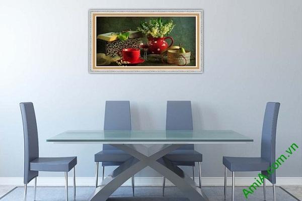 Tranh trang trí nghệ thuật sắp xếp bàn ăn AmiA 581-01