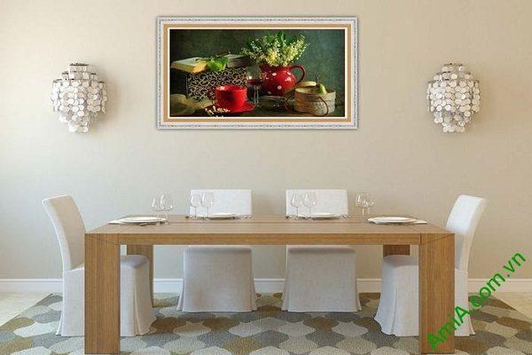 Tranh trang trí nghệ thuật sắp xếp bàn ăn AmiA 581-02