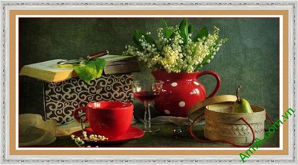 Tranh trang trí nghệ thuật sắp xếp bàn ăn AmiA 581