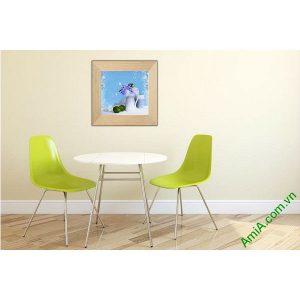 Tranh trang trí nghệ thuật tĩnh vật bình hoa Amia 509-00
