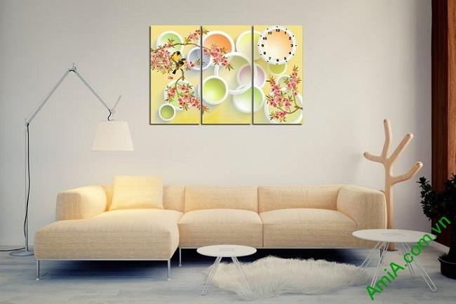 Tranh trang trí nghệ thuật Vector phong cảnh mùa xuân Amia 469-01