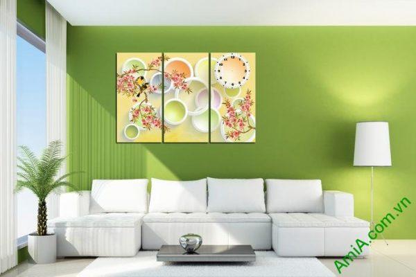 Tranh trang trí nghệ thuật Vector phong cảnh mùa xuân Amia 469-02