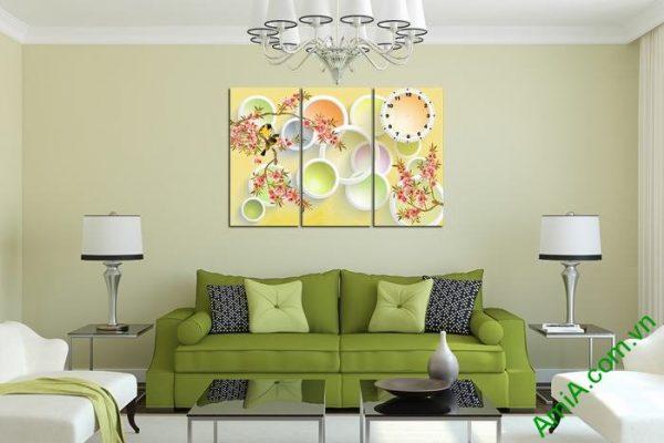 Tranh trang trí nghệ thuật Vector phong cảnh mùa xuân Amia 469-03