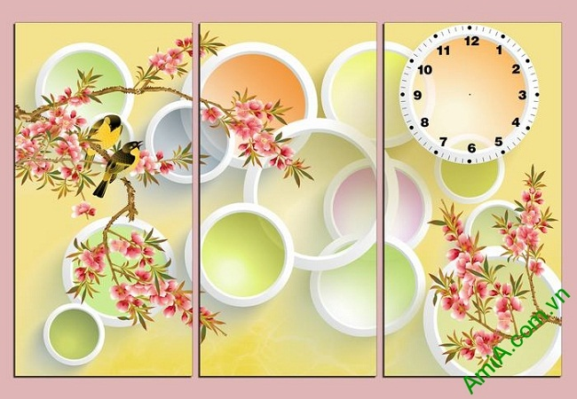 Tranh trang trí nghệ thuật Vector phong cảnh mùa xuân Amia 469