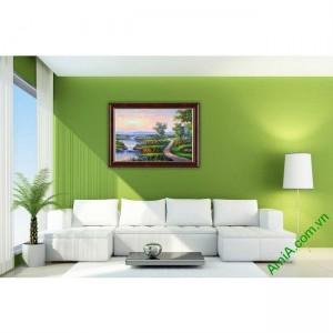 Tranh trang trí phong cảnh đồng quê khổ nhỏ Amia 460-00