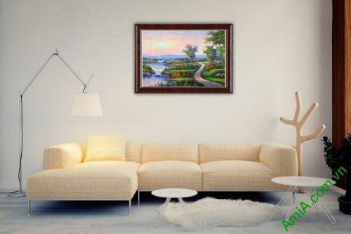 Tranh trang trí phong cảnh đồng quê khổ nhỏ Amia 460-02