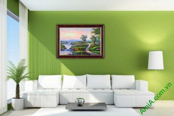 Tranh trang trí phong cảnh đồng quê khổ nhỏ Amia 460-03