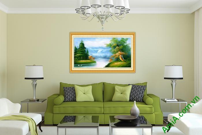 Tranh trang trí phong cảnh in giả sơn dầu thong dong Amia 545-02