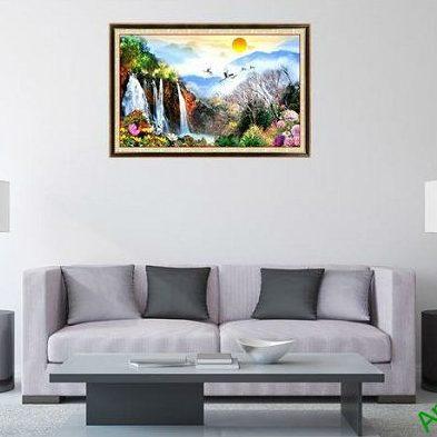 Tranh trang trí phong cảnh thiên nhiên ngày mới Amia 563-00