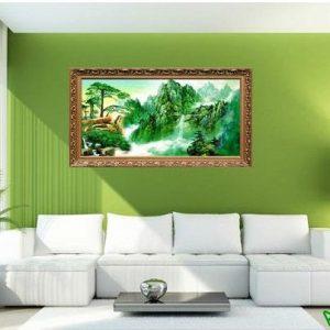 Tranh trang trí phong cảnh thiên nhiên sông núi đẹp Amia 494-00