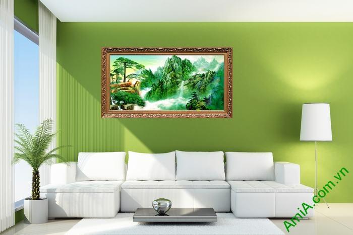 Tranh trang trí phong cảnh thiên nhiên sông núi đẹp Amia 494-01
