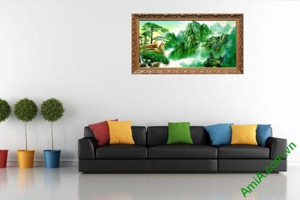 Tranh trang trí phong cảnh thiên nhiên sông núi đẹp Amia 494-02