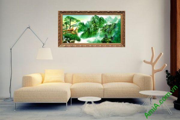 Tranh trang trí phong cảnh thiên nhiên sông núi đẹp Amia 494-03