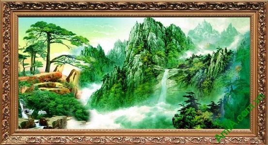 Tranh trang trí phong cảnh thiên nhiên sông núi đẹp Amia 494