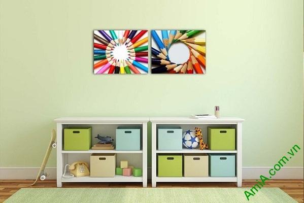 Tranh trang trí phòng của bé nghệ thuật xếp bút chì Amia 576-01