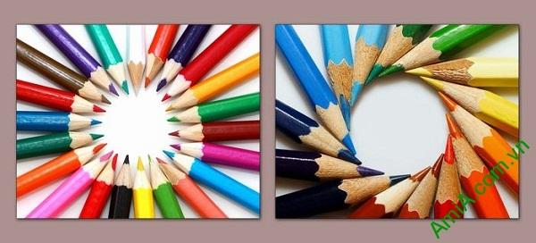 Tranh trang trí phòng của bé nghệ thuật xếp bút chì Amia 576