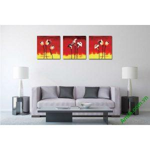 Tranh trang trí phòng khách hiện đại hoa nghệ thuật Amia 537-00