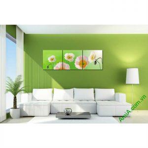 Tranh trang trí phòng khách hiện đại hoa Poppy Amia 457-00