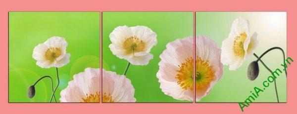 Tranh trang trí phòng khách hiện đại hoa Poppy Amia 457