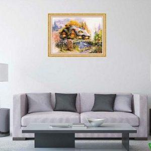 Tranh trang trí phòng khách ngôi nhà hạnh phúc AmiA 586-00