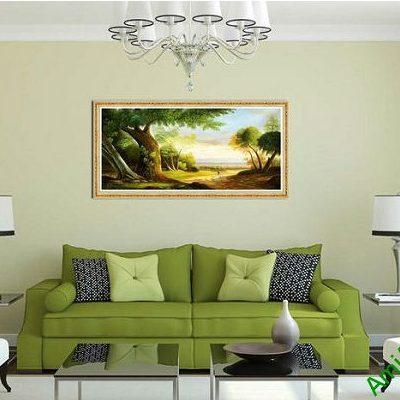 Tranh trang trí phong khách phong cảnh đường quê AmiA 589-00