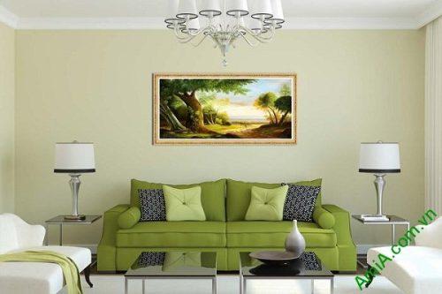 Tranh trang trí phong khách phong cảnh đường quê AmiA 589-01