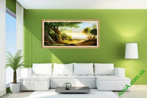 Tranh trang trí phong khách phong cảnh đường quê AmiA 589-02
