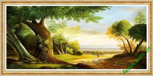 Tranh trang trí phong khách phong cảnh đường quê AmiA 589