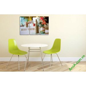 Tranh trang trí phòng khách, phòng ăn hoa hồng Amia 549-00