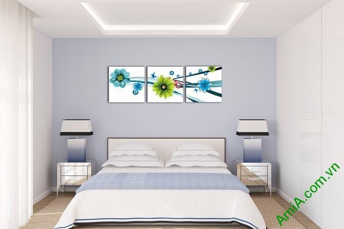 Tranh trang trí phòng khách, phòng ngủ hoa Vector Amia 534-02