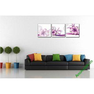Tranh trang trí phòng khách, phòng ngủ hoa vector nghệ thuật-00
