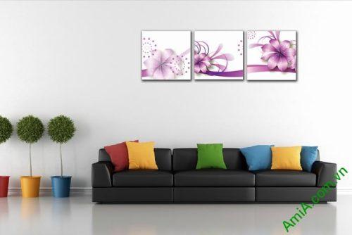 Tranh trang trí phòng khách, phòng ngủ hoa vector nghệ thuật-01